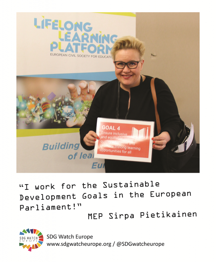 Sirpa Pietikainen_sdgwatch support